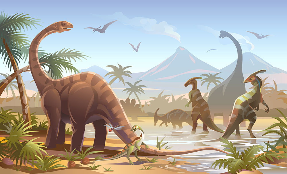 Dinousaurs and Palms